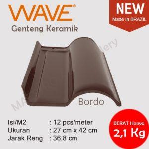 Genteng Keramik Wave - Bordo