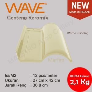 Genteng Keramik Wave - Marfim
