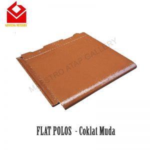 Mutiara Flat Polos Coklat Muda